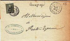 Z6717-TOSCANA, BARBERINO DI MUGELLO, NUMERALE A SBARRE PER PRATO-TOGNANA, 1887