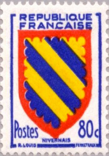 PHOTO MAGNET France Arms of NIVERNAIS 1954 issue 80c