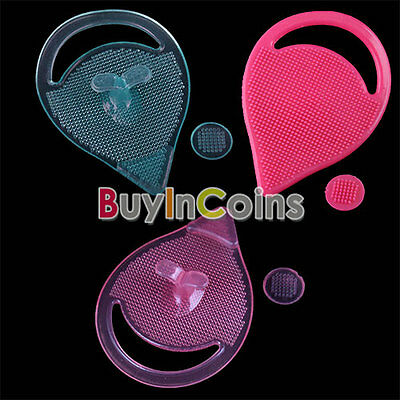 Brush Cleansing Soft Pad Face Blackhead Remover MOZ Silicone Gel Facial HF AU