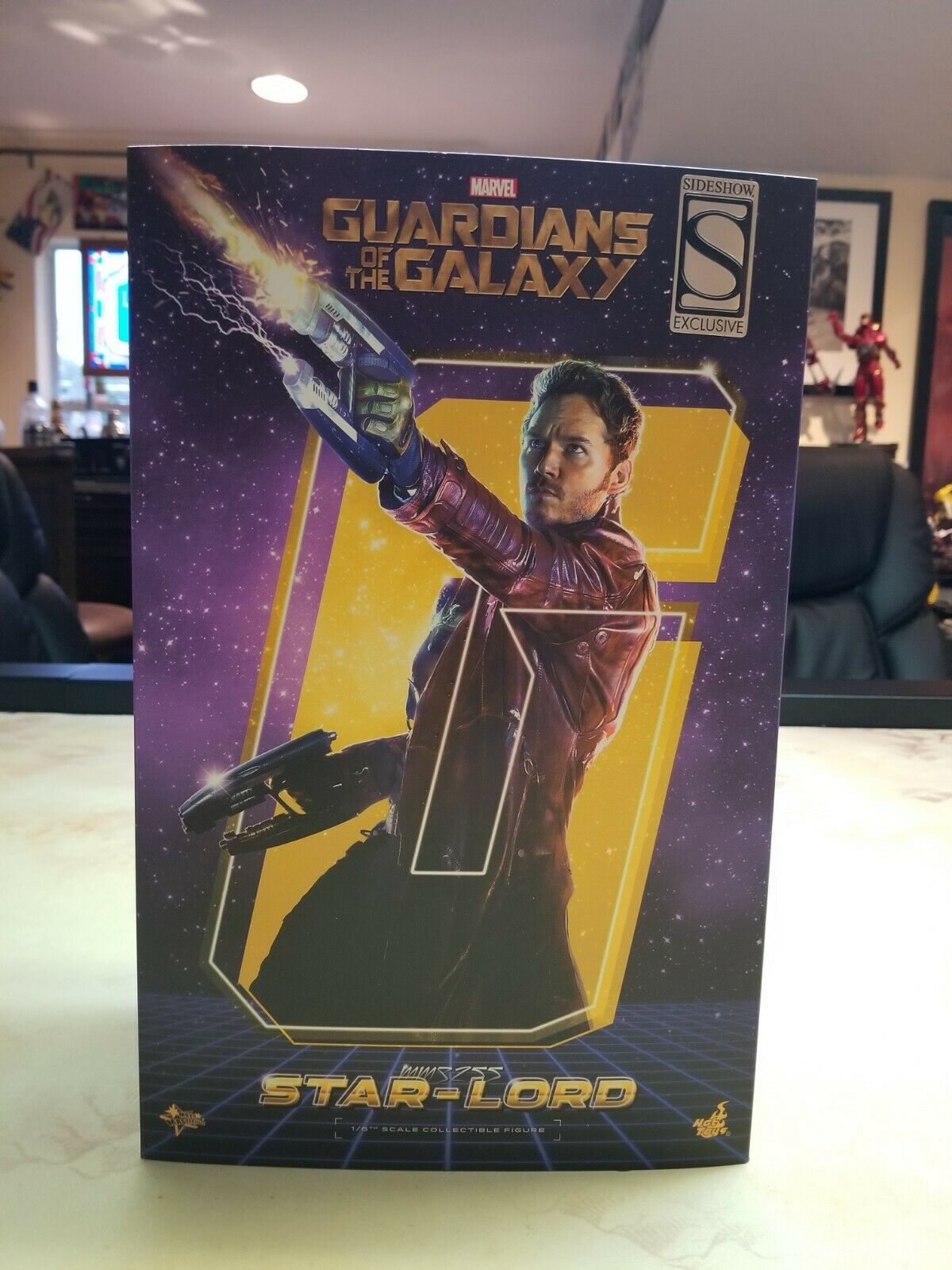 """Hot Toys Star Lord Sideshow Exclusive 1/6 Scale 12"""" fig Guardians of the Galaxy on eBay thumbnail"""