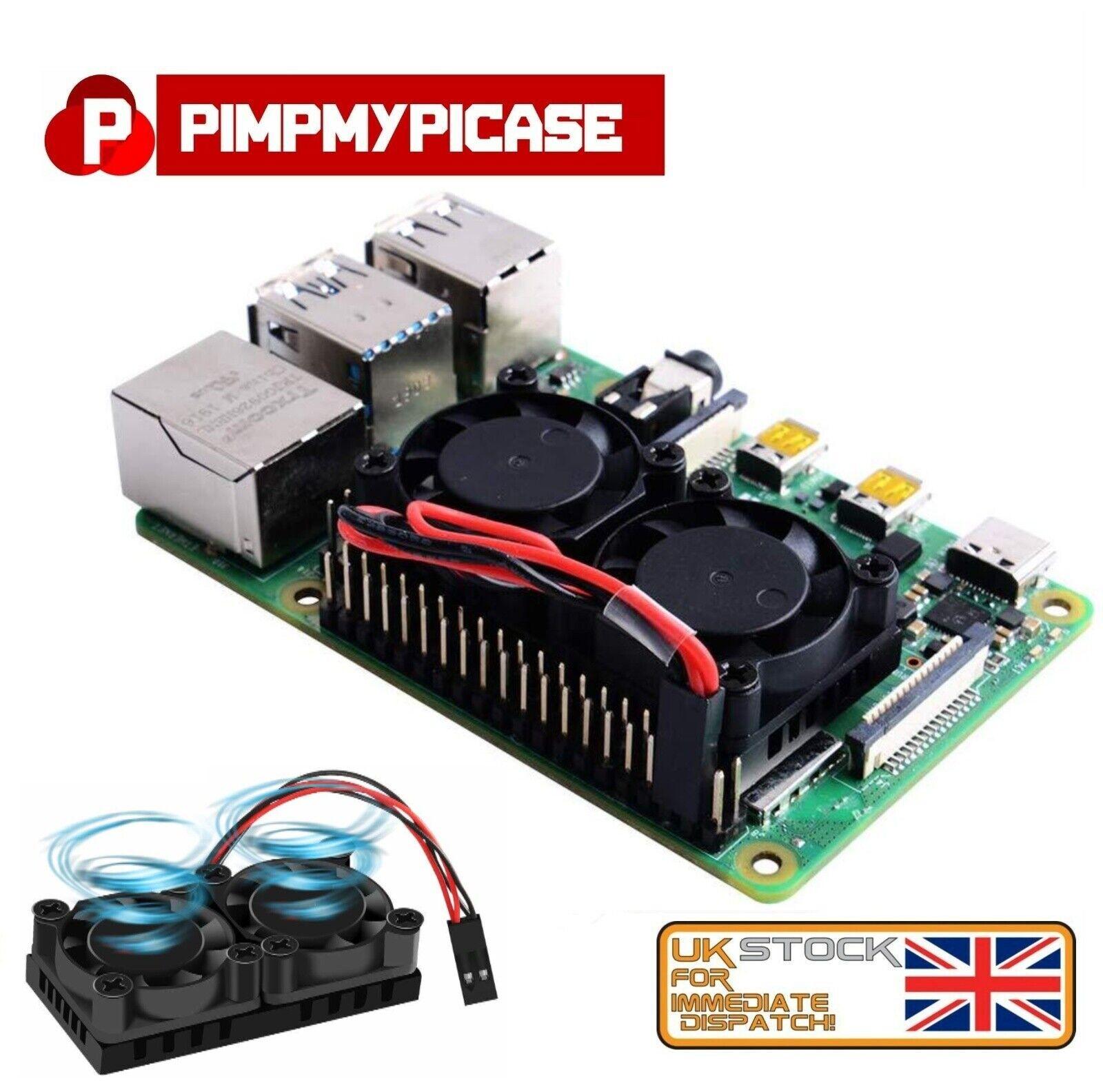 Raspberry Pi 4 Model B Dual Fan with Heat for Raspberry Pi 4B/3B+