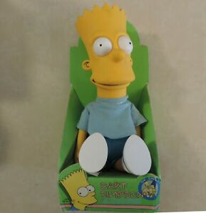 1990-NEW-IN-BOX-Vintage-Bart-Simpson-Plush-Doll-Dan-Dee-10-034-Collectible