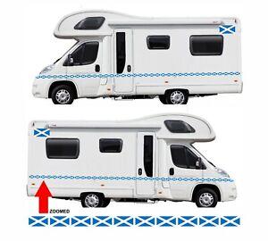 Scotland Flags 24 Metres Of Stripes For Van Motorhome Campervan Graphics F2 Ebay
