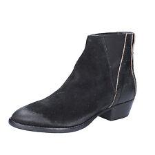 scarpe donna MOMA 37 EU stivaletti nero camoscio AC363-D