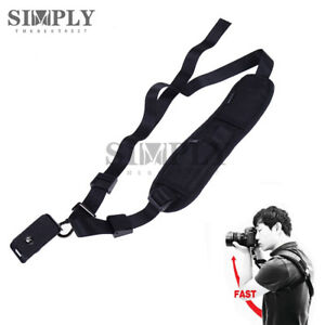 Quick-Rapid-Camera-Single-Shoulder-Sling-Neck-Strap-Belt-for-Digital-DSLR-Black
