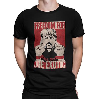 Freedom for JOE EXOTIC T-Shirt Mens Funny Tiger King Wildlife Shirt Movie Tv