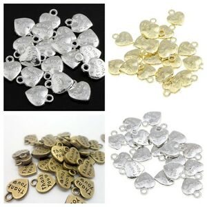 20-x-3D-034-Thank-You-034-Heart-Pendant-Charm-Beads-Wedding-Favours-lady-muck1