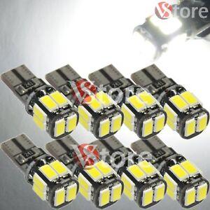8-Led-T10-Lampade-Canbus-10-SMD-5630-No-Errore-Luci-BIANCO-Posizione-Auto-W5-12V