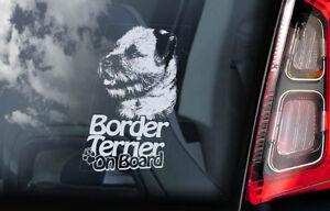 Border-Terrier-a-Bordo-Coche-Ventana-Pegatina-Perro-Signo-Arte-Regalo-Idea