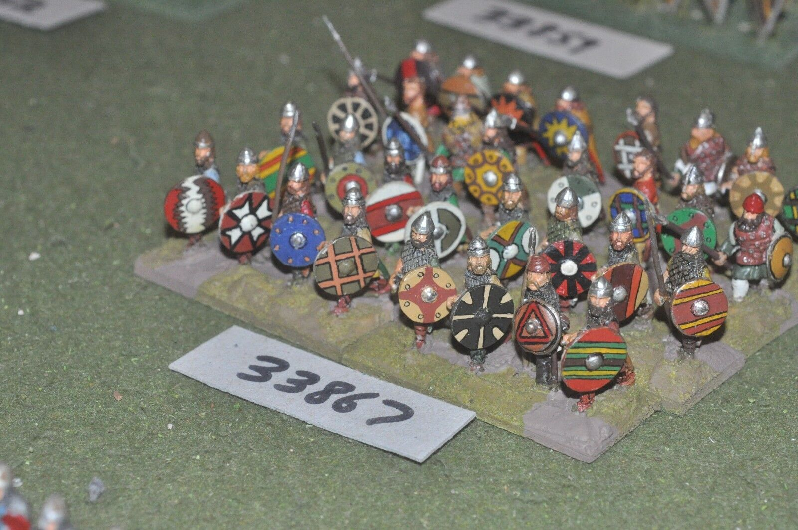 25mm dark ages   anglo saxon - spearmen 32 figures - inf (33867)