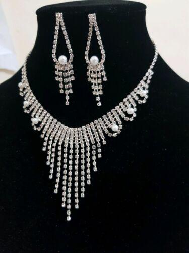 Bridal or party Necklace Set Diamante Wedding