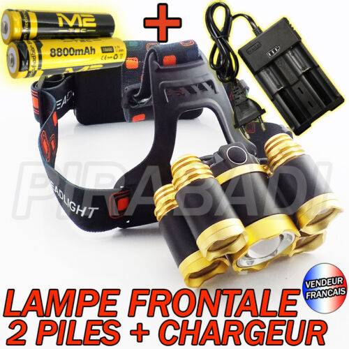 SWAT POLICE 1000M LAMPE TORCHE FRONTALE 9000 LUMENS LED FLASHLIGHT ACCESSOIRES