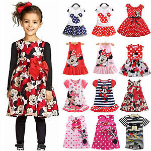 Kids-Baby-Girls-Minnie-Mouse-Summer-Holiday-Princess-Vest-Party-Shirt-Tank-Dress