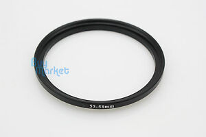 NEW-Metal-Adapter-Filter-Lens-Step-Up-Ring-55-58mm-55mm-to-58mm