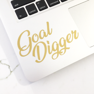 Details About Goal Digger Sticker Decal Motivational Quote Stickers Boss Babe Decal