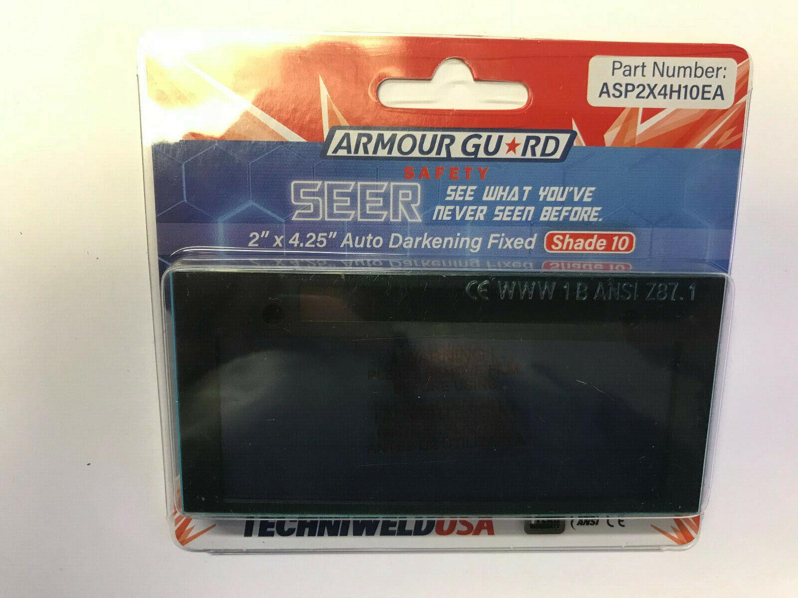 Techniweld Armour Guard Seer Auto Darkening Welding Lens 2 x 4 Shade 10