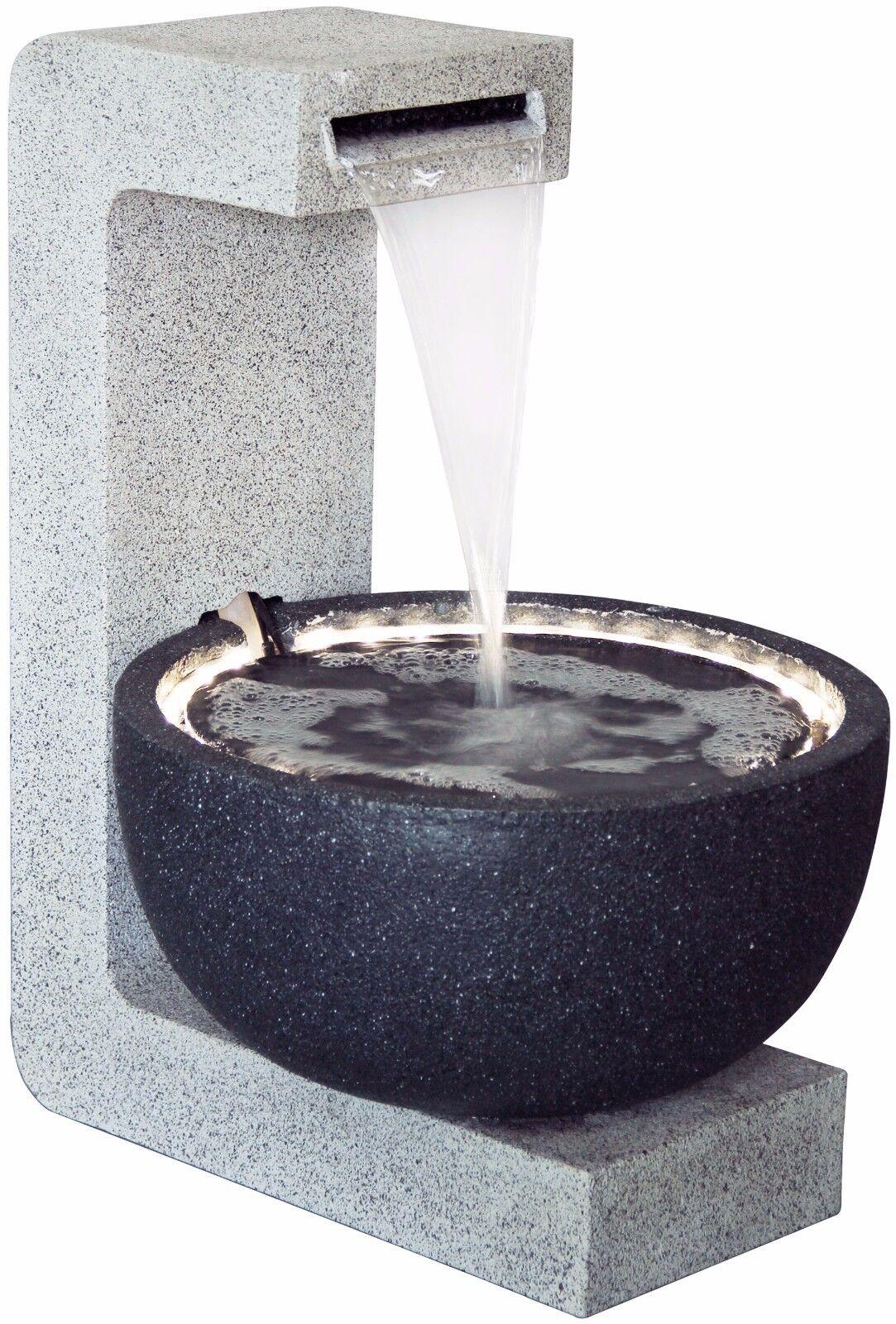 Design Gartenbrunnen Mit Led S Pumpe Garten Spring Brunnen