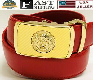 Genuine Leather Belt For Men Ratchet Belt Autonomic Belt Buckle