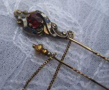 alte  Krawattennadel Inséparable750 Gold  Email Granat Tie pin Österreich-Ungarn
