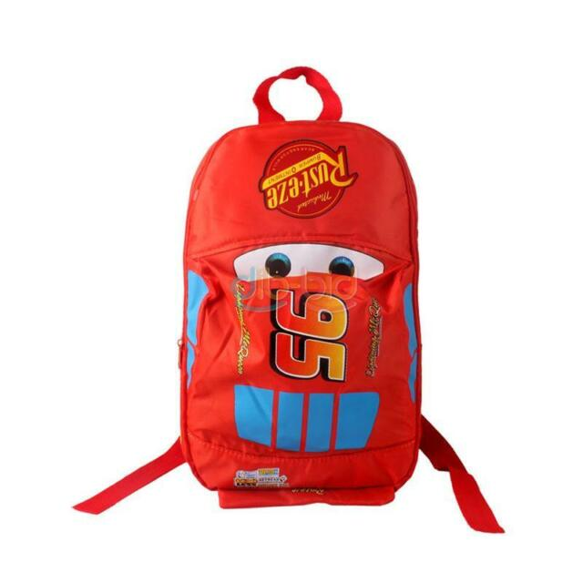 Stylish Cars School Bag For Red Lightning McQueen Pixar Backpack Kids OC AU