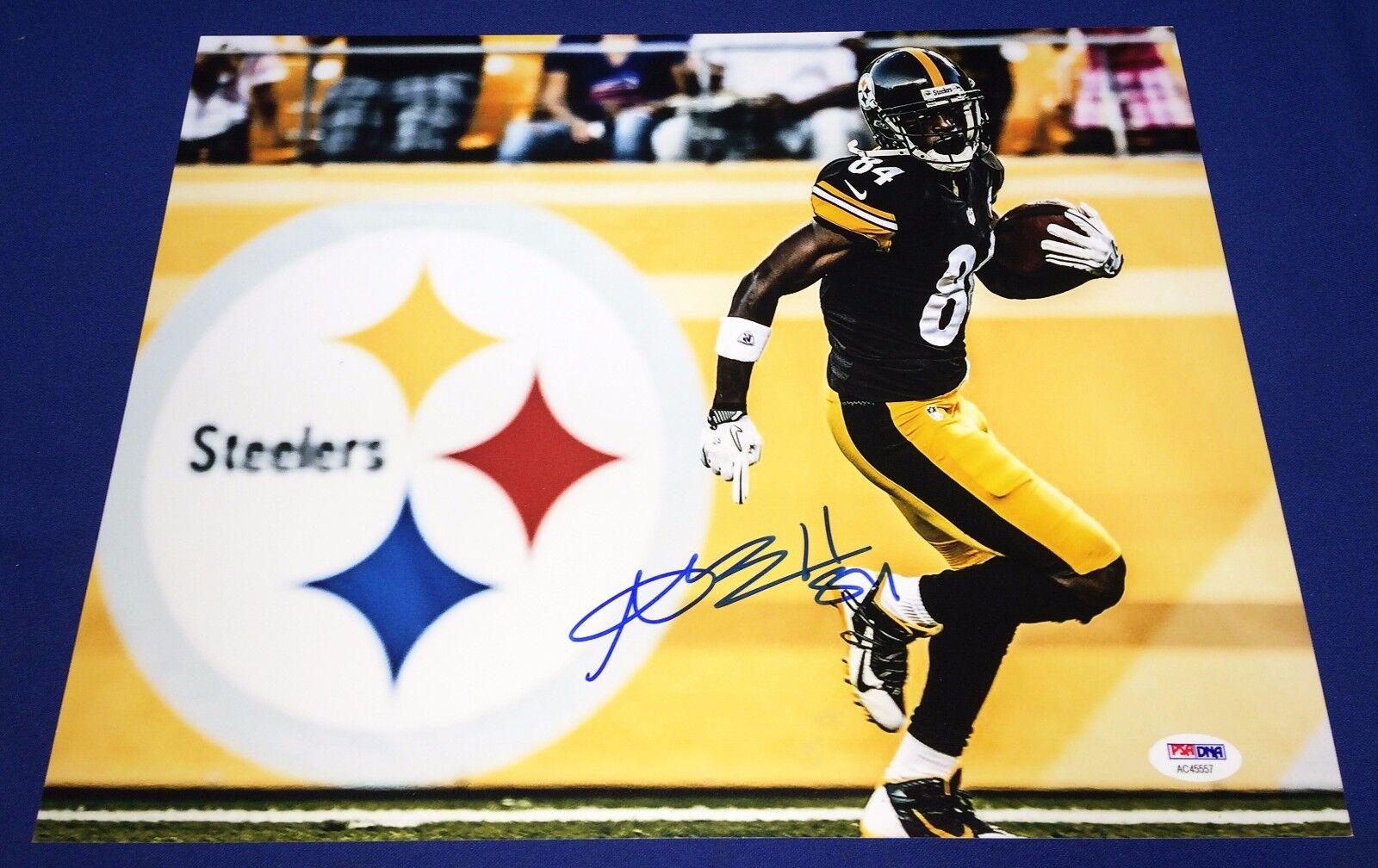 Antonio Brown Pittsburgh Steelers Signed 11x14 photo PSA/DNA Cert # AC 45557