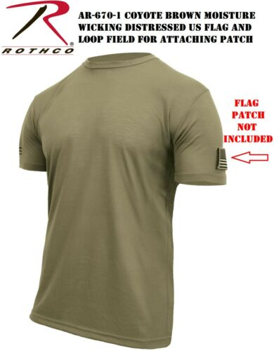 AR-670-1 Scorpion Coyote Distressed Flag Athletic Moisture Wicking T-Shirt 1656