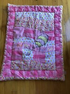 Dr Seuss Oh The Places You Ll Quilt Blanket Pink Baby