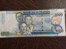 1000 Piso NDS Missing Serial Numbers Aquino-Tetangco 2010 Error Banknote Circ