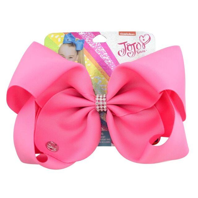 Rainbow Bowknot 8inch Girls Kids JOJO SIWA Laser Hair Bow With Alligator Clip