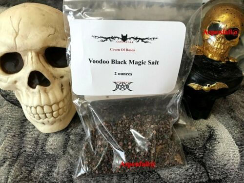 Voodoo Black Magic Salt 2 oz ~Made By Witches~Banishing Wicca Rituals Ceremonies