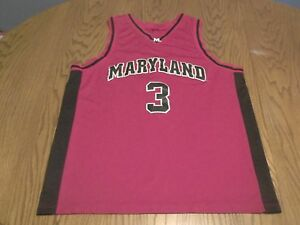 check out cfa68 25600 Details about UNIVERSITY of MARYLAND TERRAPINS TERPS #3 SEWN BASKETBALL  JERSEY-XL RARE