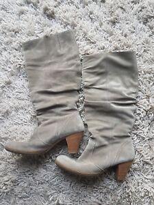 Details zu Neuwertig Paul Green Stiefel beige taupe Gr.5,5 38,5
