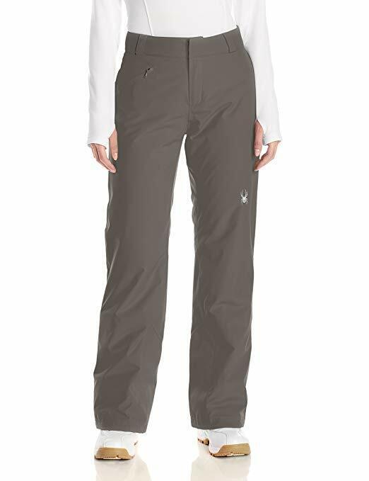 Spyder Women's Winner Tailored Fit Pant, Ski Snowboard, Size L, Inseam Long (33)