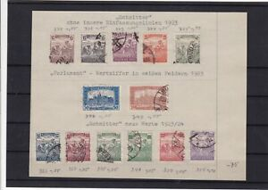 hungary 1923 stamps ref 11062