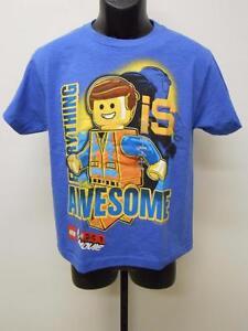 Everything is Awesome BOYS BLUE ORIGINAL LEGO MOVIE T-SHIRT SIZE 10//12