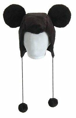 Mickey Mouse Hoodie Hat Black Mouse Ears Plush Adult Kids Child Disney LICENSED