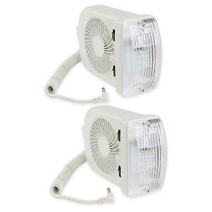 2-NEW-RV-LED-12v-Fan-LIGHT-FOR-CAMPER-TRAILER-RV-MARINE