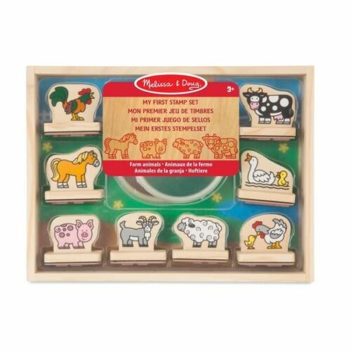 Melissa /& Doug My First Stamp Set Farm Animals 3 Childrens Art Craft