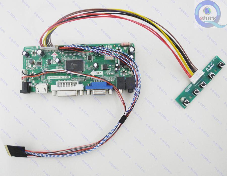 "LCD Driver Monitor Kit for 10.1/"" 1024X600 PQ3QI-01 LED Panel HDMI+DVI+VGA+Audio"