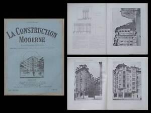 DéSintéRessé La Construction Moderne - N°35 - 1927 - Paris, Avenue Zola, Hbm, Maistrasse Avec Une RéPutation De Longue Date
