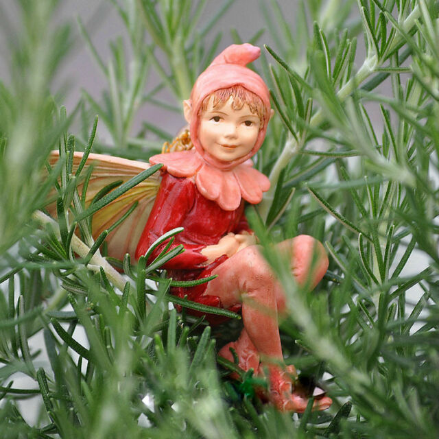 Red Campion Fairy Ornament Cicely Mary Barker Faerie Figurine Miniature Garden