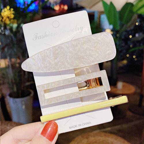 Details about  /3PCS//Set Women Simple Hair Clips Barrettes Hair Pins Hair Accessories Bangs Clip