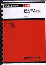 1980 David Brown Case 1290 & 1390 Tractor Operators Instruction Manual