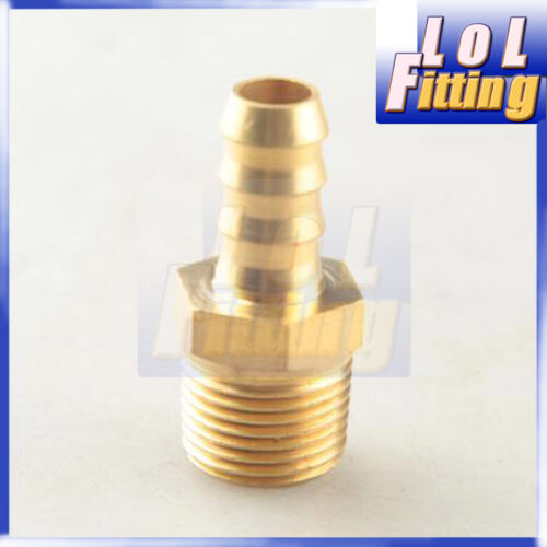 """5//8/""""  Male Brass Hose Barbs Barb to 1//2/"""" NPT Pipe Male Thread"""