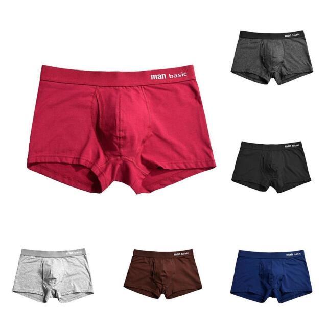 HotMan Underwear Medium Waist Loose Boxers Cotton Underpants Boxer Briefs Shorts