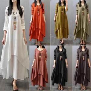 d654340cd3 Image is loading 5XL-Muslim-Women-Kaftan-Abaya-Jilbab-Islamic-Girls-