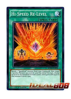 Hi-Speed Re-Level BOSH-EN058 Common Yu-Gi-Oh Card Mint 1st Edition New