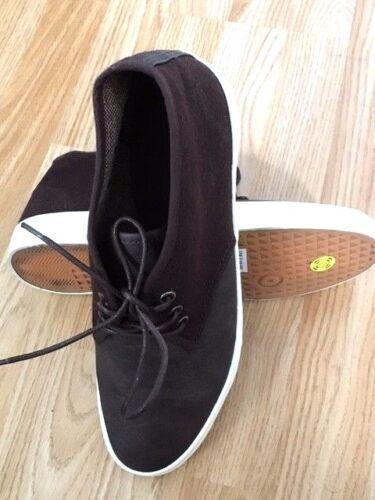 Men Ankle Mid Hi-Top Boot Trainer Leather Lace Canvas Pump Shoe Skate Size