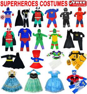NEW-SIZE-1-12-KIDS-DRESS-UP-COSTUME-SUPERHERO-PARTY-OUTFIT-GIRL-BATMAN-IRONMAN