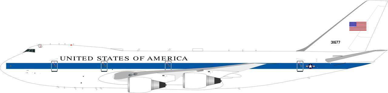 Ife4a0418 1 200 Eeuu Fuerza Aérea Boeing E-4a 747-200b 73-1677 No Shf